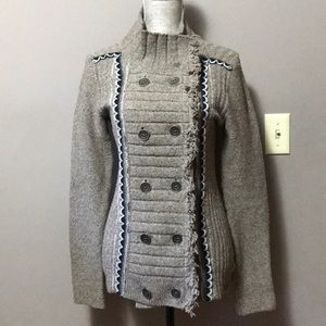 Free People Double Breasted Button Up Sweater